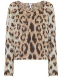 Loewe - Leopard-print Mohair-blend Top - Lyst