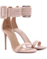 Aquazzura - Casablanca 105 Suede Sandals - Lyst
