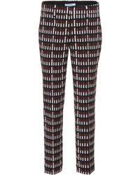 Prada - Lipstick Wool-blend Trousers - Lyst
