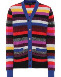 Marc Jacobs - Striped Cashmere Cardigan - Lyst