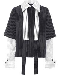 JW Anderson - Striped Cotton Shirt - Lyst