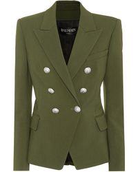 Balmain - Wool-blend Blazer - Lyst