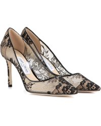 Jimmy Choo Romy 85 Lace Court Shoes