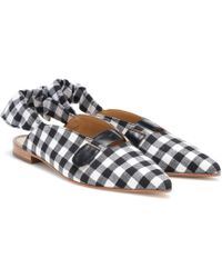 Dodo Bar Or - Checked Slingback Ballet Flats - Lyst