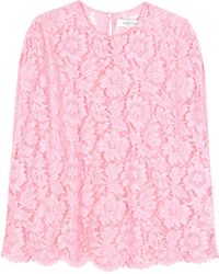 Valentino - Lace Blouse - Lyst