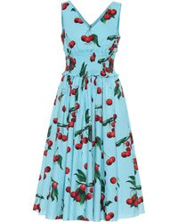 Dolce & Gabbana Exclusive To Mytheresa – Cherry Printed Cotton Dress