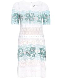 Roberto Cavalli - Embroidered Cotton Dress - Lyst