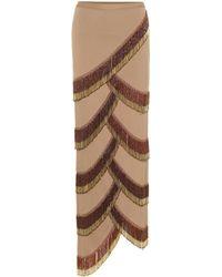 Y. Project - Beaded Asymmetric Skirt - Lyst