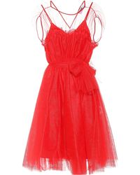 MSGM - Vestido de tul - Lyst