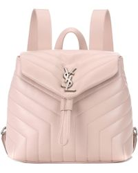 Saint Laurent - Small Loulou Monogram Backpack - Lyst