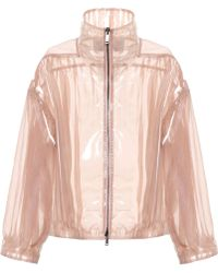 Valentino - Coated Silk Bomber Jacket - Lyst