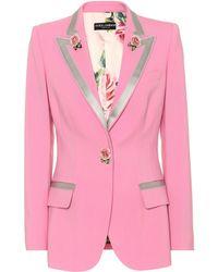 Dolce & Gabbana - Blazer en laine et soie Turlington - Lyst