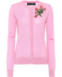 Dolce & Gabbana - Embellished Cashmere Cardigan - Lyst