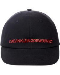 CALVIN KLEIN 205W39NYC - Embroidered Cotton Hat - Lyst