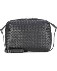 2e0def5965 Bottega Veneta Nodini Leather Crossbody Bag in Natural - Lyst