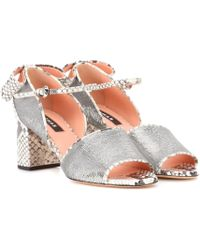 Rochas - Sandalen aus Leder - Lyst
