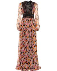 Giambattista Valli - Vestido de fiesta de seda floral - Lyst