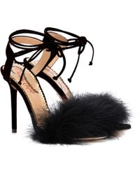 Charlotte Olympia - Salsa 110 Feather-trimmed Sandals - Lyst
