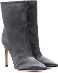 Gianvito Rossi - Exclusive To Mytheresa. Com – Melanie Satin Ankle Boots - Lyst