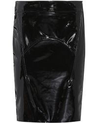 Tom Ford - Suede-trimmed Patent Leather Skirt - Lyst