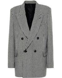 AMI - Checked Wool-blend Blazer - Lyst