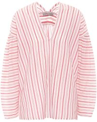 Vince - Striped Oversized Cotton Top - Lyst