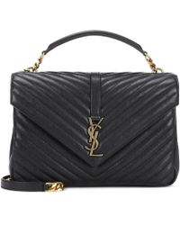 Saint Laurent - Borsa Collège Monogram Large in pelle - Lyst