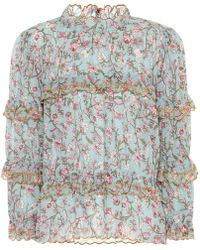 Étoile Isabel Marant - Moxley Printed Cotton Top - Lyst