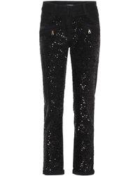 Balmain - Sequinned Jeans - Lyst
