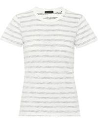 ATM - Striped Cotton T-shirt - Lyst