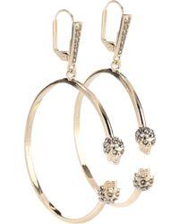 Alexander McQueen | Skull Swarovski Earrings | Lyst