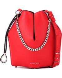 Alexander McQueen - Leather Bucket Bag - Lyst