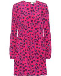 Diane von Furstenberg - Vestido corto de seda estampado - Lyst
