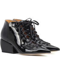 Petar Petrov - Sacha Patent Leather Ankle Boots - Lyst