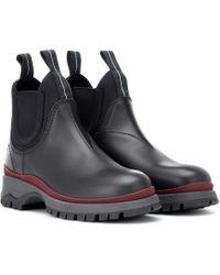 Prada - Leather Chelsea Boots - Lyst