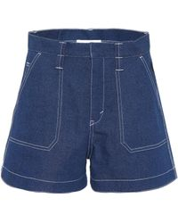 Chloé - Flared Denim Shorts - Lyst