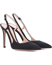 Gianvito Rossi - Exclusive To Mytheresa. Com – Grosgrain Slingback Pumps - Lyst