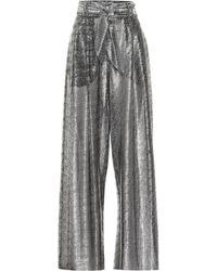 Christopher Kane - Pantalones anchos metalizados - Lyst