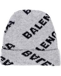 Balenciaga - Intarsia Wool-blend Beanie - Lyst