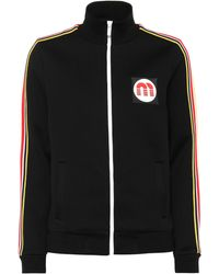Miu Miu - Cotton-blend Track Jacket - Lyst