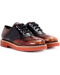 Miu Miu - Leather Oxford Shoes - Lyst