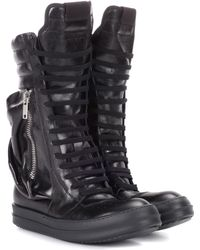 Rick Owens - Leather Combat Boots - Lyst