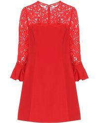 Valentino Vestido en mezcla de lana y seda - Rojo
