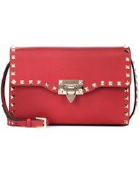 Valentino - Rockstud Medium Leather Shoulder Bag - Lyst