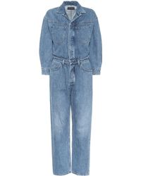 ffd77163f349 Lyst - Citizens Of Humanity Sylvie Worker Jumpsuit in Blue