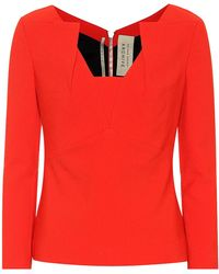 Roland Mouret - Top Strand in crêpe - Lyst