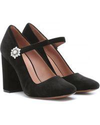 ALEXACHUNG - 105mm Velvet Mary Jane Court Shoes - Lyst