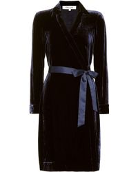 Diane von Furstenberg - New Jeanne Velvet Wrap Dress - Lyst
