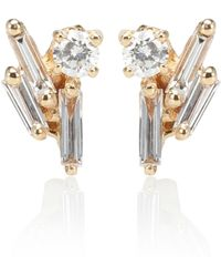 Suzanne Kalan - 18kt Gold And Diamond Earrings - Lyst