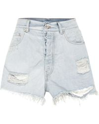 Unravel - High-rise Denim Shorts - Lyst